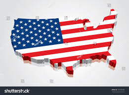 Map Of The Usa by 3d Vector Flag Map Usa United Stock Vector 101582383 Shutterstock