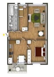 One Room Apartment Floor Plans 40 More 2 Bedroom Home Floor Plans