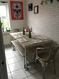 dining table with benches perfect farm table and bench for in