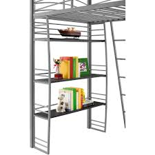 Loft Shelving by Dorel Dhp Studio Twin Metal Loft Bed With Desk And Shelves Silver