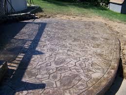 Backyard Cement Patio Ideas by Stone Texture Concrete Pavers Cost Stamped Concrete Patio