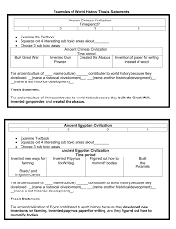 paper for writing examples of world history thesis statements ancient chinese