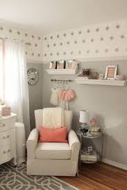 house tour nursery peach and gray