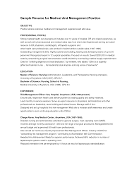 Example Resume  Objectives For Management Resume With Professional Expereince And Education For Medical And Management     Binuatan