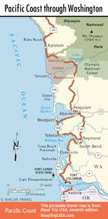 Bandon Oregon Map by Pacific Coast Route Through Washington State Road Trip Usa