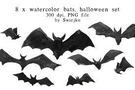 bats images clip art halloween clip art bats illustrations creative market