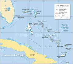 Labeled Map Of Central America by Map Of The Bahamas Nations Online Project