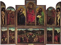 Ghent Altarpiece    Kids Encyclopedia   Children     s Homework Help     Kids Britannica Photograph The Ghent Altarpiece  open view   also called The Adoration of the