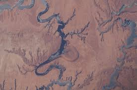 Lake Powell Map File Iss 31 Lake Powell And The Rincon In Utah Jpg Wikimedia Commons