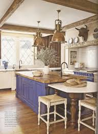 metal country kitchen with rustic island u2013 home design and decor