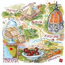 Tuscany Map Toscana Map And Food La Repubblica Www Carlostanga Com Carlo