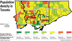 Time Change Map Toronto Has Too Much Housing Despite Overall Population Growth