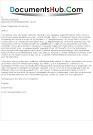 Writing A Cover Letter For An Internship Letter For Environmental Internship