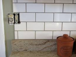 white subway tile backsplash corner stunning white subway tile