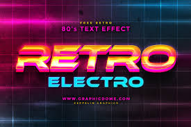 free 80s text effect on behance