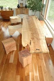 custom dining table extremely curly maple slab table by dumond u0027s