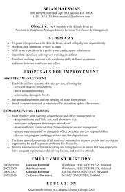 Journeyman Electrician Resume Sample by Lovely Warehouse Resume Sample 6 Warehouse Assistant Cv Template