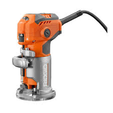 Woodworking Power Tools Online India by Ridgid 5 5 Amp Corded Compact Router R24012 The Home Depot