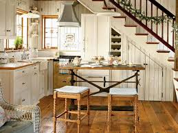 elegant rustic kitchen makeovers with wood bar stools and l shaped