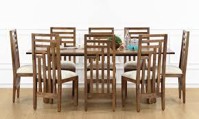 buy larne 8 seater dining table veneer top online in india