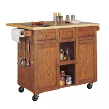 Portable Islands For Kitchens Remarkable Rolling Islands For Kitchens From Oak Wood With Wooden