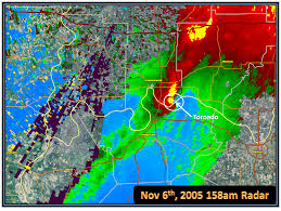 Weather Map Ohio Nov 6th 2005 Evansville Area Tornado