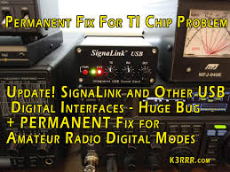 Ham Radio Business Cards Templates Signalink And Other Usb Digital Interfaces Huge Bug Fix For