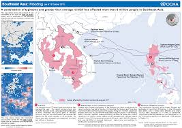 Southeast Map Southeast Asia Flooding Map 2011 Extreme Events Institute Eei