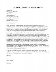 Cover Letter for SecondaRY Teacher Sample Job Application Letter