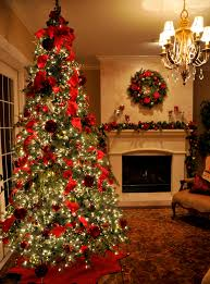 interior how to decorate living room for christmas displaying red