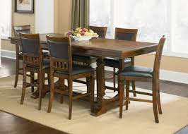 Dining Table Set Traditional Traditional Casual Dinette Room With 6 Pieces Walmart Dining Table