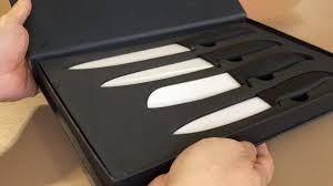Gourmet Kitchen Knives Gourmet Ceramic Chef Knife Set By Clever Chef 4 Piece Youtube