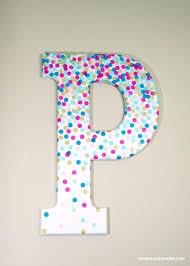 confetti decorative letters for wall decor confetti kids rooms