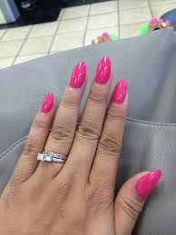i asked tracy for semi pointy but not stiletto nails and she