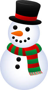 cute christmas snowman free clip art