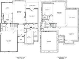House Plan With Basement by Single Storey House Plans Wondrous Ideas 7 Floor Plansingle Home