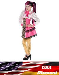 new girls draculaura deluxe costume wig monster high fancy dress