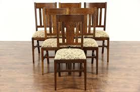 sold set of 6 antique craftsman 1910 mission oak arts u0026 crafts