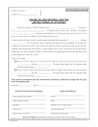Examples Of Power Of Attorney Forms by Free Texas Crude Oil Limited Power Of Attorney Form Adobe Pdf Word
