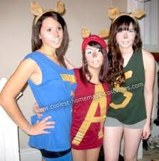 Halloween Costume Ears Cool Diy Alvin Chipmunks Group Costume Homemade