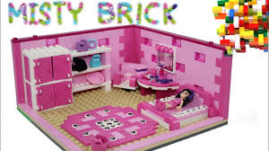 lego friends pink child room by misty brick youtube