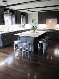 Blue Backsplash Kitchen Two Toned Gray Cabinets Single Wall Oven Pastel Ocean Blue