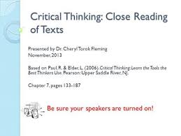no approach available that can delimitate critical thinking from other higher order SlidePlayer
