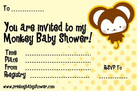printable baby shower invitations for boys monkey baby shower invitations for boy u2013 gangcraft net