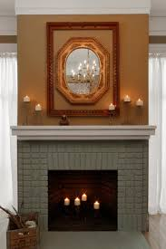 Fake Exposed Brick Wall Decoration Fake Exposed Brick Wall With Table Lamp Also Fireplace