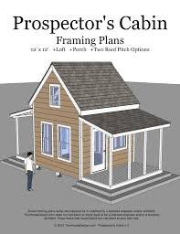A Frame Cabin Floor Plans With Loft Prospector U0027s Cabin 12 12 V2 U2013 Cover