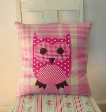 Knitted Cushions With Buttons Pink Owl Vintage Wool Blanket Cushion Cover Crafty Ideas