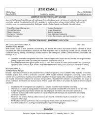 project management resume example assistant project manager resume job description mwanwan construction project manager resume example