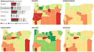Maps Oregon by Poverty In Oregon Interactive Maps Show Rising Medicaid Rates