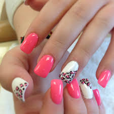 pink flower nail designs how you can do it at home pictures